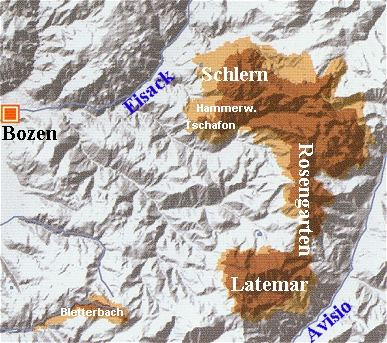 Karte der Cacheregion